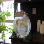 IWABA CAFE - シトラスウォーターのサービスが嬉しい