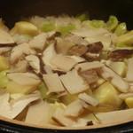 禅紫 - 松茸と栗とぎんなんの土鍋炊きご飯