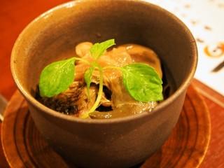 日本料理 金澤の味 笑宿 - アワビ肝つまみ