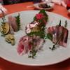 いわし料理 西鶴 - 料理写真:鰯、スズキ、鮪、シマアジ、蛸の刺身の盛合せ