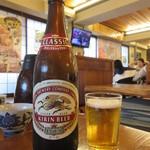 越前がに やまに水産 - 瓶ビール(中) 640円