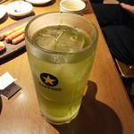 養老乃瀧  - デカい緑茶ハイ