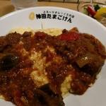 神田たまごけん - 秋の野菜オムカレー、ほんのりカレーおいしい。