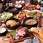 Meat Camp - 丸鶏ダッチオーブンとローストビーフのCAMPコース