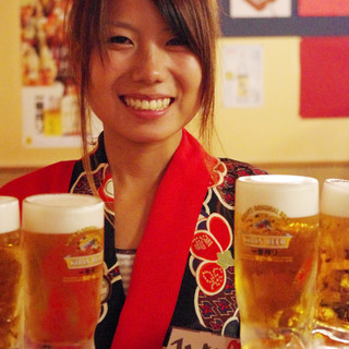 月曜~木曜はビール等半額!