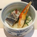 うなぎ 魚政 - 酢の物 蟹の爪、蛸、クラゲ、鯵の昆布〆