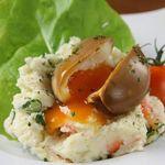 半熟煮卵のせポテサラ