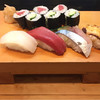 Sushidokorohanase - 料理写真:にぎり定食 いか マグロ さば たこ