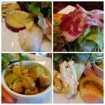 ノムカ+cafe - *「マカロニサラダ」「ハム」「お魚の甘酢づけ」「サツマイモ」etc、、盛り沢山。