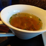 73849584 - ◆コンソメスープ・・キノコが入り優しい味わい。