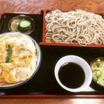 そば処 しなの - 親子丼セット(もりそば)  ¥880-