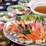 末広 - 料理写真:寄せ鍋寿司セット