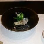 割烹 久木田 - 炙り〆鯖と九条ネギ