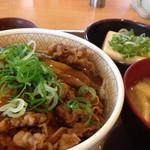 73853324 - カレー南蛮牛丼+健康セット