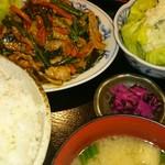 食堂きむらや - スタミナ定食(780円)とポテトサラダ(150円)ご飯大盛(100円)