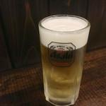 ちょんたま食堂 - ちょんたまの生はグラスがいつもキンキン