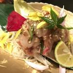 鉄板焼と和食 宴 - 花茗荷と鮮魚の酒盗和へ(9・10月のお勧め)
