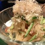 鉄板焼と和食 宴 - 竹輪のぱりぱり大根酢(9・10月のおばんざい)