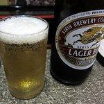 明石や - 瓶ビールはアサヒ・キリンラガー・ヱビスが揃えてありました。