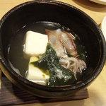 粋やぶき - 付き出し 蛍イカの湯豆腐