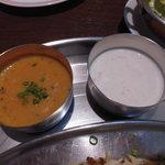 HUNZA - チキンビリヤニセットの付属品 豆カレーとライタ