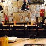 赤坂韓国料理・焼肉 兄夫食堂 - 壁一面のサイン!テレビもありますが、焼肉の煙突で見えませんでした。