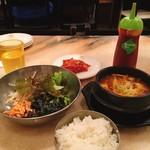 赤坂韓国料理・焼肉 兄夫食堂 - ◇牛肉味噌チゲ+ミニビビンバ ランチイベント @1,580円→@790円