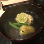 松見坂 なかしま - 新銀杏と焼き茄子のお椀