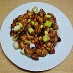 73867073 - 鶏肉とピーナッツの炒め