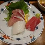 徳田酒店 - お造り 3種盛