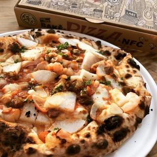 【哲剣&裏剣からデリバリー】窯焼きの出来立てpizza