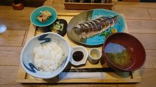 いまがわ食堂 - 大トロ炙りさば定食@980