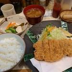 73874565 - 【2017/9】特ロースかつ定食
