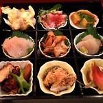 73876425 - 松花堂2500円の9種類の料理
