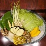 73881140 - 三色火鍋コース:野菜