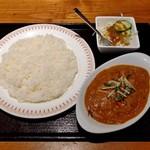 ロイヤルインド - チキンカレー・ライスセット(810円)