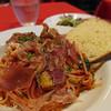 パルティーレ - 料理写真:生ハムとズッキーニのトマトソーススパゲティー