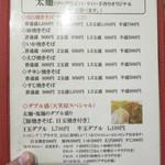 天笑屋 - 天笑屋 太麺メニュー
