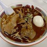 73889369 - 蜂屋 「醤油ラーメン+煮玉子」