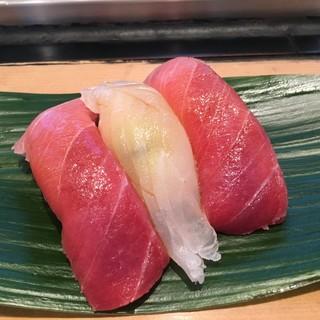 すし処 會 - 料理写真:鮪とヒラメ