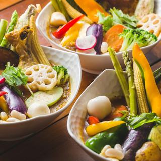 地元野菜を使った彩り鮮やかな絶品『スープカレー』を味わう♪