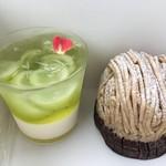 MAISON GIVRÉE - 料理写真:モンブランとシャインマスカットのパンナコッタ
