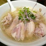 塩生姜らー麺専門店 マニッシュ - と、言うことで今回注文した「塩生姜ラーメン肉増し」1000円が到着!