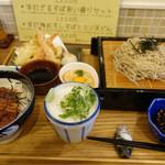 さんて - 料理写真:ミニうなぎどんと手打ち天ざる蕎麦☆