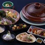 京料理 かじ - 桜鯛と京都山城竹の子しゃぶ鍋コース