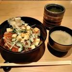 SUSHI TOKYO TEN、 - [料理] 朝のバラ散らし セット全景♪w