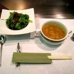 739199 - ランチ サラダ、スープ