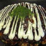 エビス茶屋 - イカと豚肉のお好み焼き