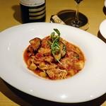 73900376 - 古白鶏とパプリカのトマトソーススパゲティ