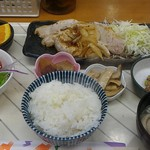 たつの子 - 上ロース生姜焼き定食750円